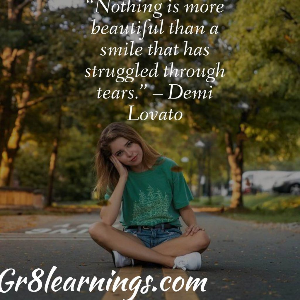 quote in smile
