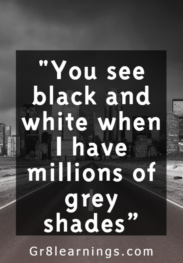 Black and White Quotes